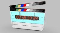 3dsmax digital film clapper board