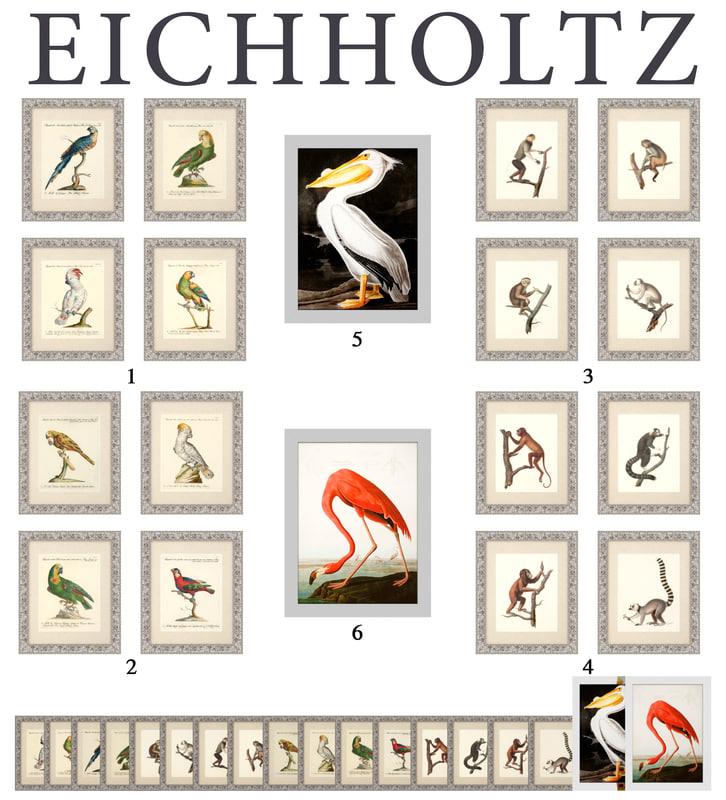 3d model frames eichholtz prints