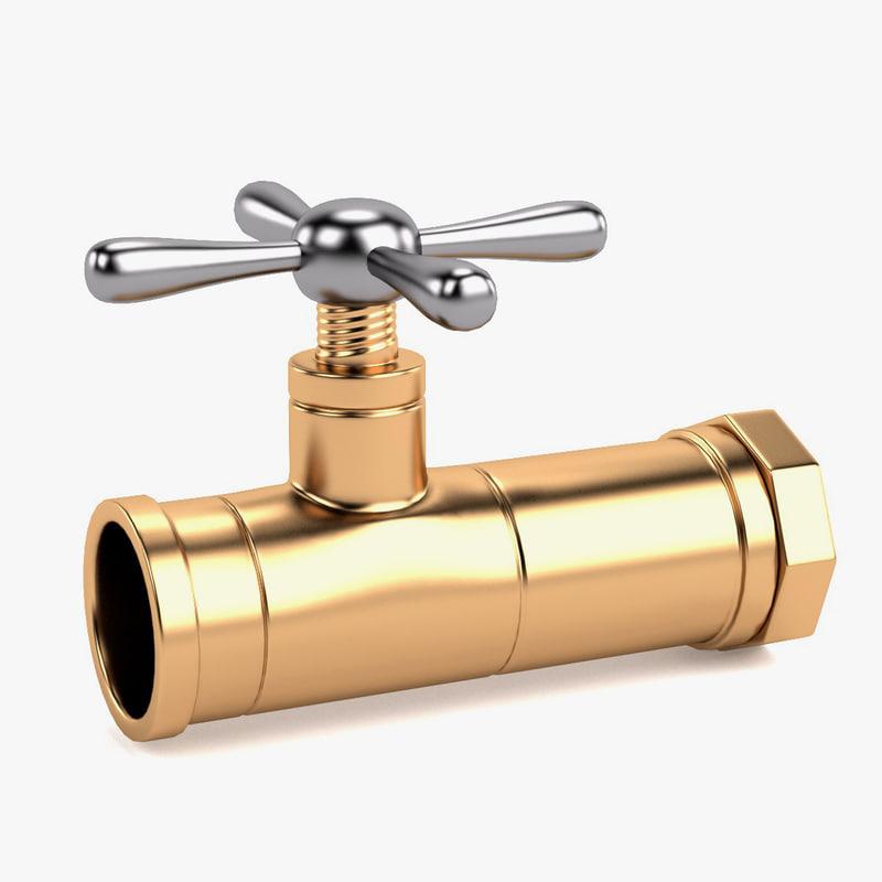 3d model valve water