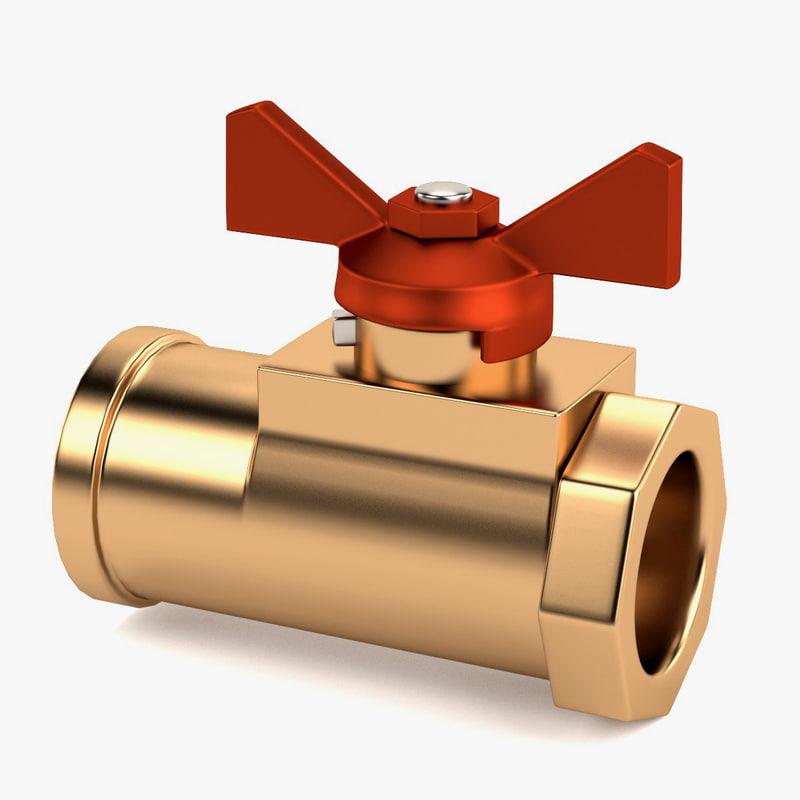 3d valve water model
