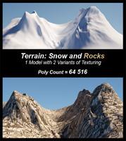 terrain model: snow rocks 3d model
