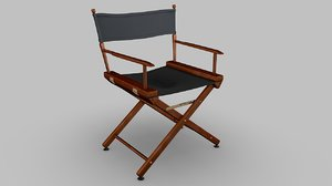 3d 3ds directors chair