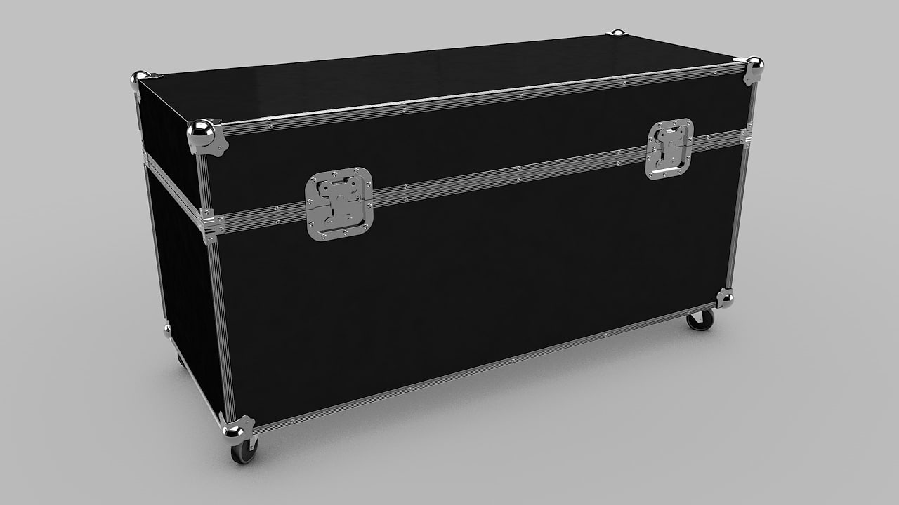 3d flight case model