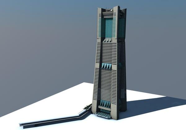 c4d landmark tower yokohama