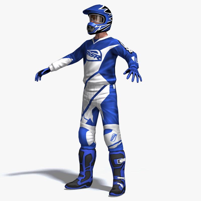 motocross rider 3d max