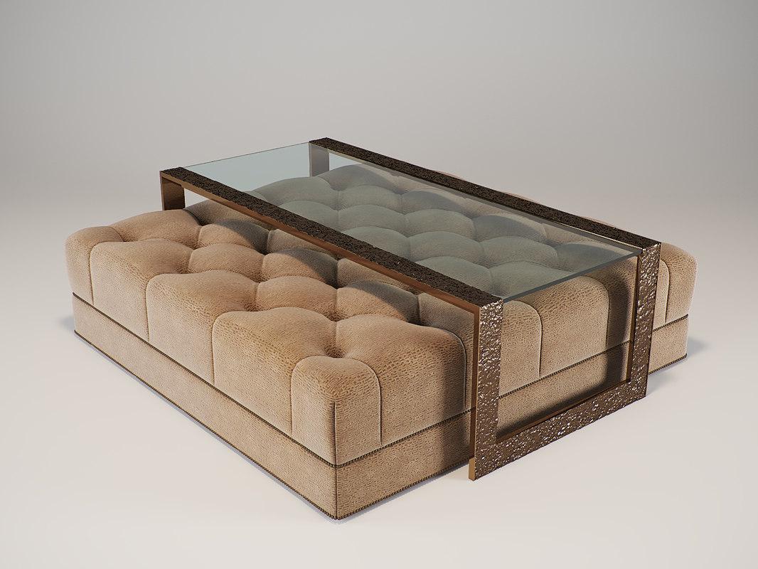 3d model baker - paris ottoman