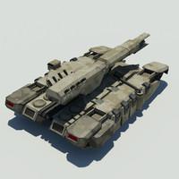 sci fi tank 3d max