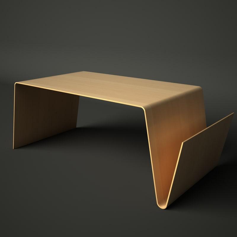 table magazine rack 3d model