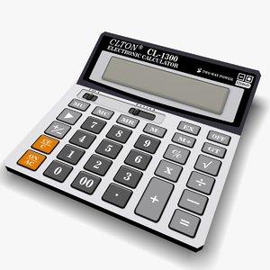 3d calculator model