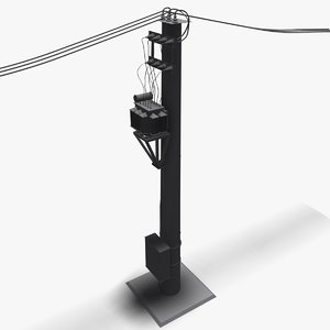 electric pole 3d model