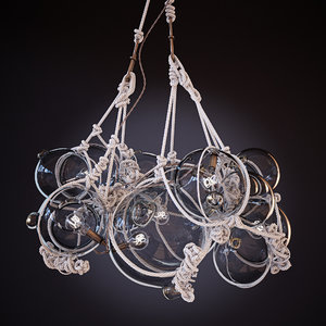 knotty chandelier lindsey adelman 3d model