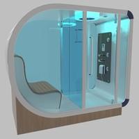 infrared sauna 3d max