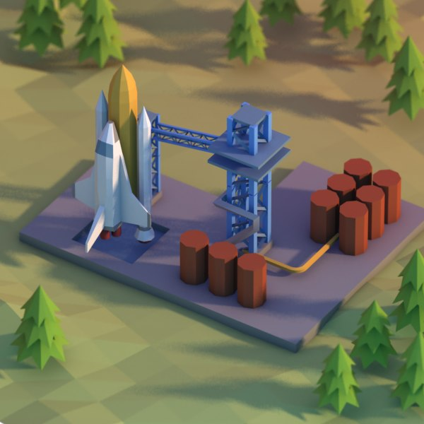 spaceport space port 3d max