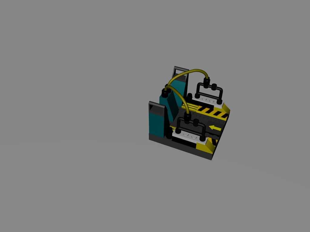 lego rock raider teleportpad 3d c4d