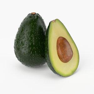 realistic avocado fruit real 3d model