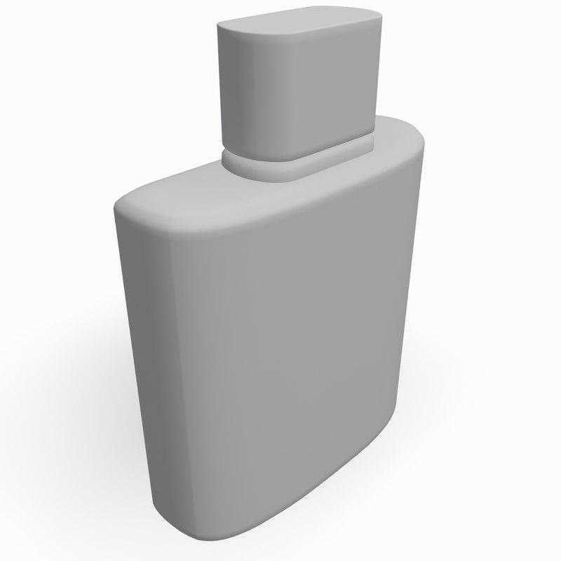 3d model bottle perfume
