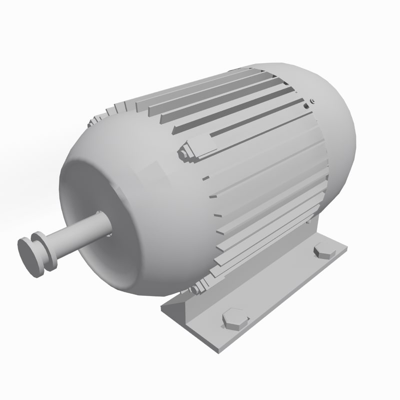 electric motor 3d 3ds