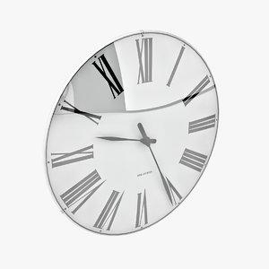 arne jacobsen roman clock 3d max