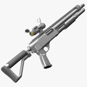 tactical remington 870 3d obj