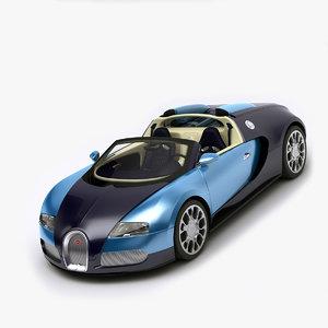 bugatti veyron rigged 3d max