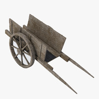 old wooden cart 3d model