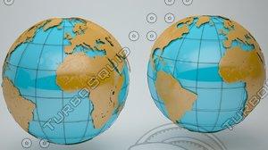 3d model globe news laser
