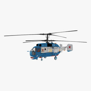 3d model kamov ka-27 military helicopter