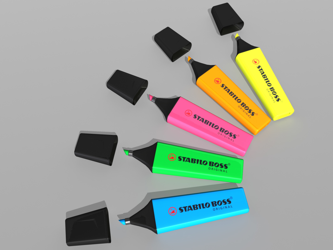 3d highlighter marker