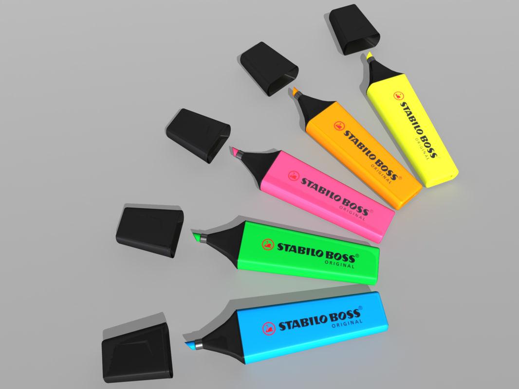 3d highlighter marker