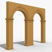 3d model arch 2