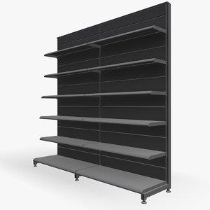 supermarket shelves 3d model