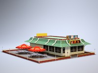 McDonalds McD MacD low poly