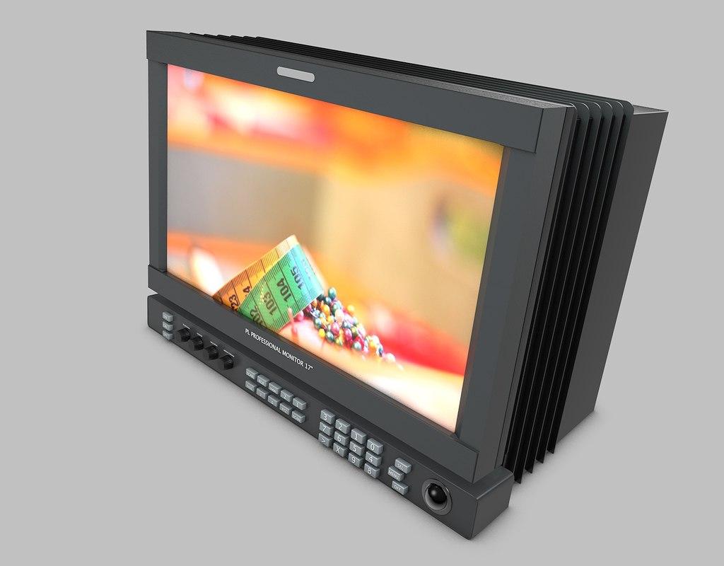 studio monitor 3d 3ds