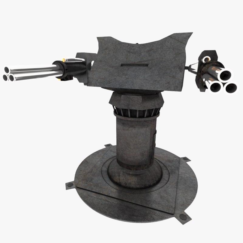 gatling gun rig 3ds free