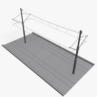 tramway rails 3d model
