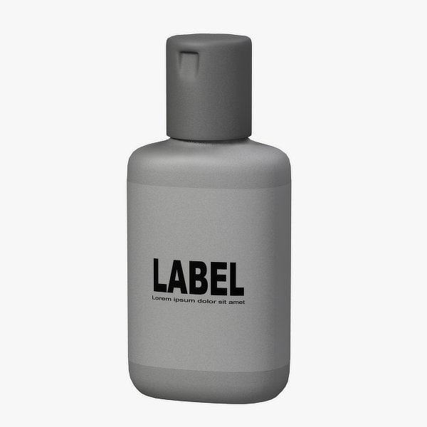 cosmetic bottle 3d lwo