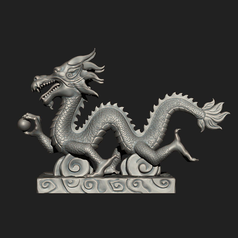 asian chinese dragon zbrush 3ds