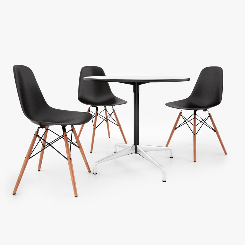 3d vitra dsw chair eames