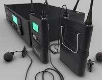 wireless lavalier mic 3d dxf