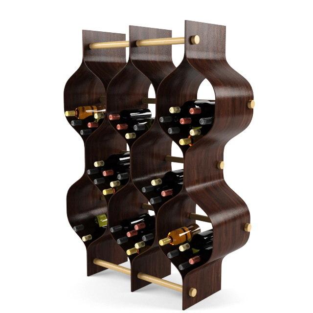 3d bottle rack