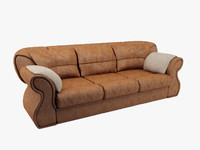 3d lather sofa