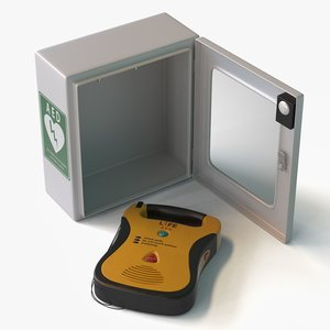 3d automated external defibrillator aed model
