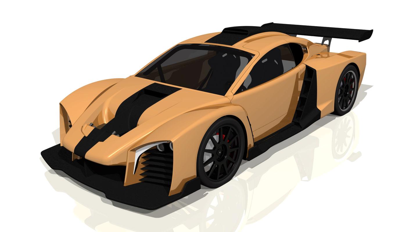prototype race car 3d wrl