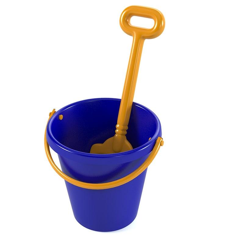 toy spade bucket 3d model
