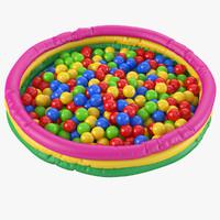 ball pit 3d model