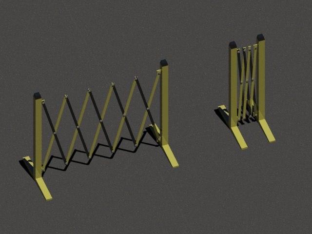 3dsmax concertina barrier