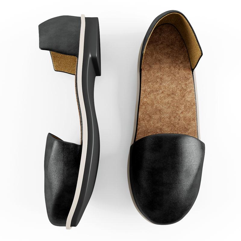 3d women leather shoes
