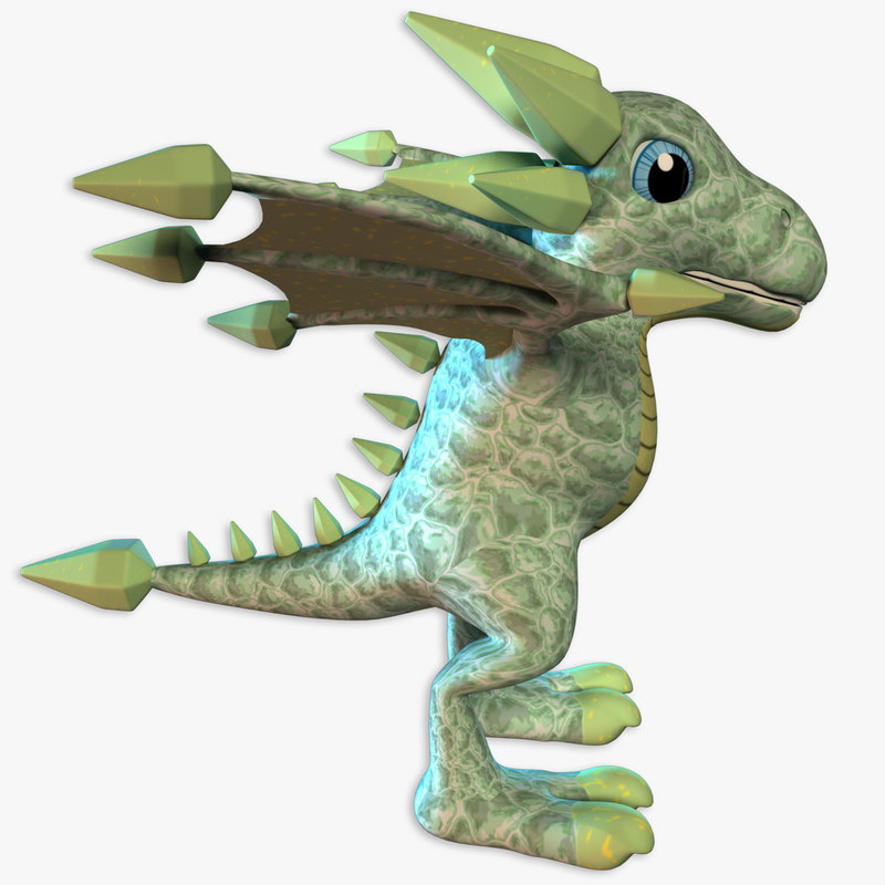 3d model of jamestone dragon