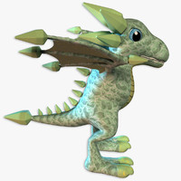 3d model jamestone dragon