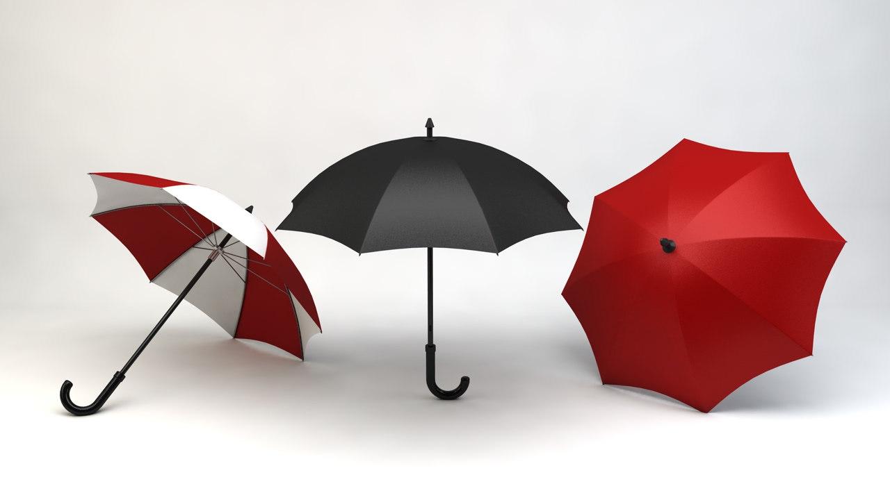 3d model umbrella design